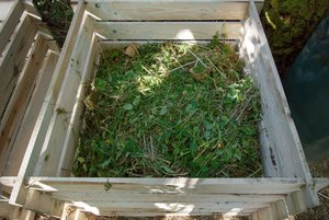 how to make compost from weeds - Adding Composting Mix